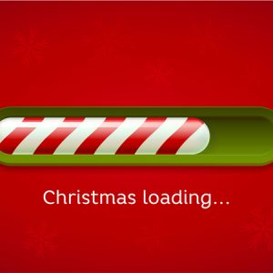 Festive Computer Loading Icon Stating Christmas Loading