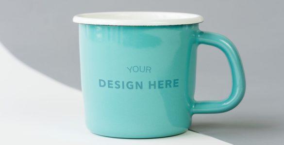 Example logo on coffee mug
