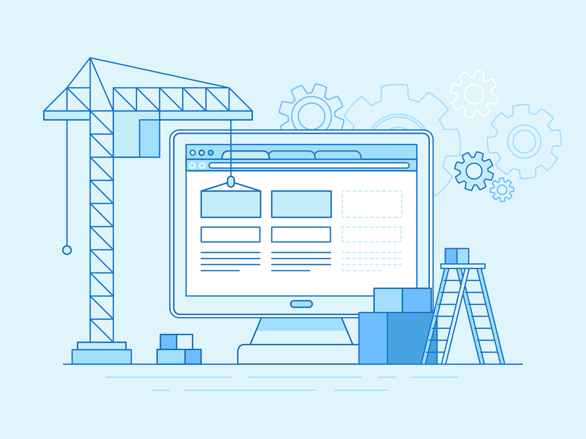illustration of builiding a website