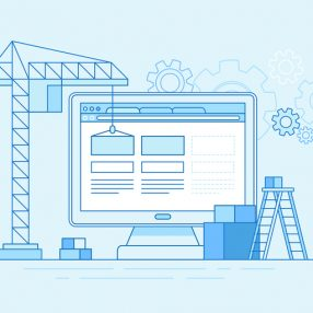 animated image of building a website