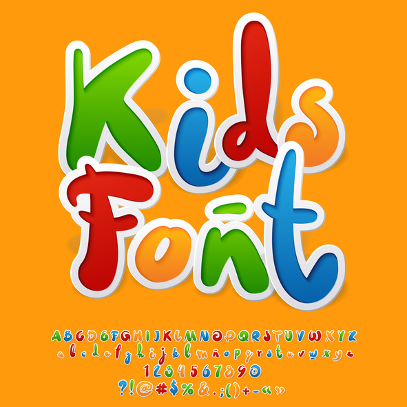 handwritten decorative kid's font