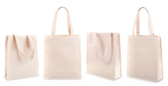 white cotton promotional tote bags