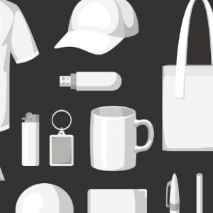 Animated image of various promotional products
